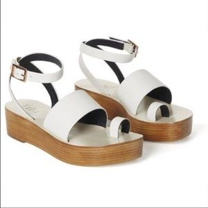 Tibi Janie sandals in white